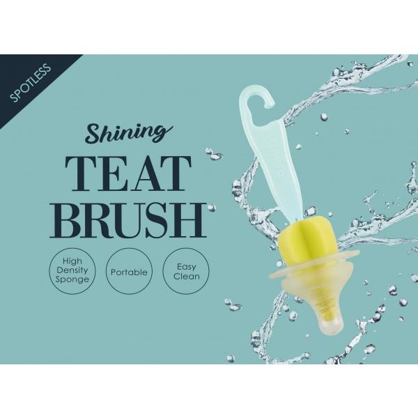Simba Sponge Nipple Brush With Easy Hanging Hook (Turquoise)