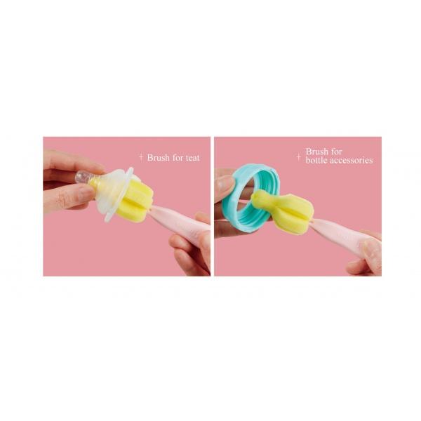 Simba Sponge Nipple Brush With Easy Hanging Hook (Pink)