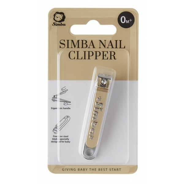 Simba Gold-Plated Carbon Steel Baby Nail Clipper with built-in Nail File