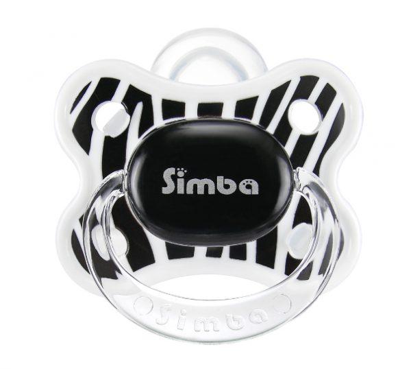 Simba Thumb Shaped Cutie Pacifier (Zebra 6 mth +)
