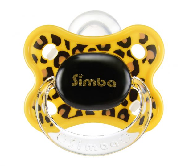 Simba Thumb Shaped Cutie Pacifier (Leopard 6 mth +)
