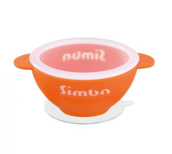 Simba Silicone Suction Bowl (Magic Rainbow Series, Orange)