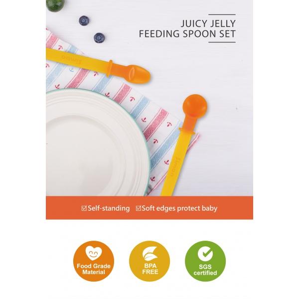 Simba Heat Sensing Baby Solid Food Feeding Spoon Set (Orange)