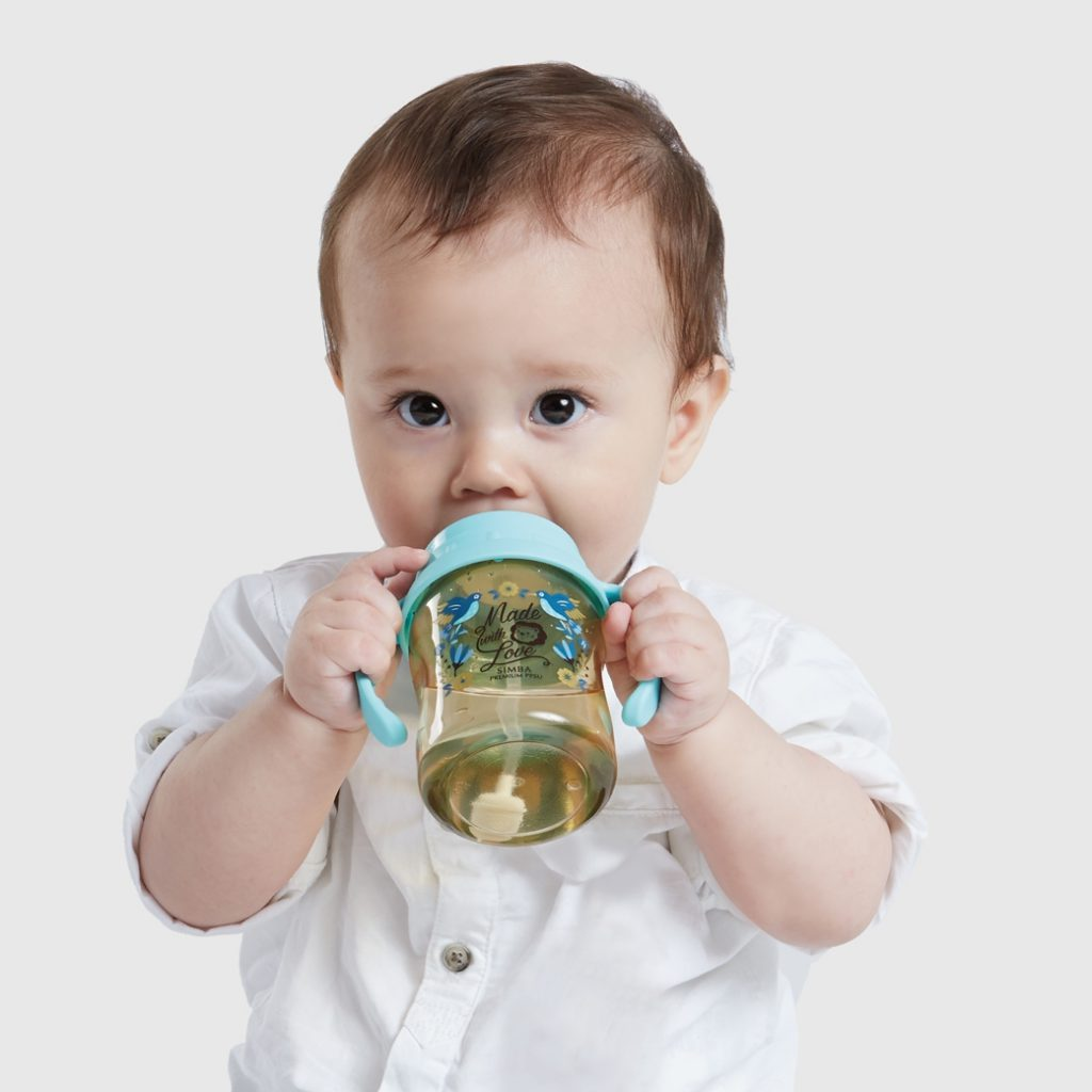 Simba Premium 7 oz PPSU Wide Neck Feeding Bottle with Handle and Weight Straw (Stage 1 Nipple)