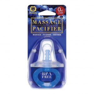 Simba Thumb-Shaped Massage Pacifier (0-6 mths, Blue)