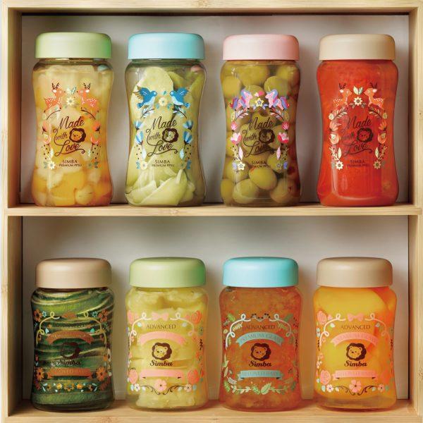 Simba Crystal Romance Wide Neck Borosilicate Glass Feeding Bottle - 9 oz (Sky Blue)