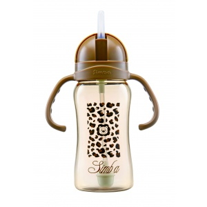 Simba PPSU  8 oz Flip-Top Straw Sippy Cup (Brown)