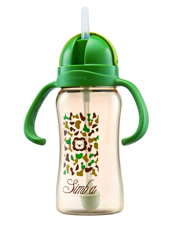 Simba PPSU  8 oz Flip-Top Straw Sippy Cup (Green)