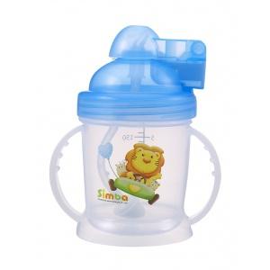Simba BPA Free Baby Training Cup w/ 360° Auto Straw (Blue, 6 oz)