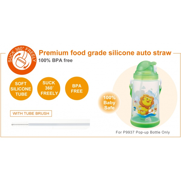 Simba Flip-it Straw Sippy Cup 22 oz Straw Replacement Set with Complimentary Straw Brush