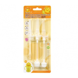 Simba Flip-it Straw Sippy Cup 8 oz Straw Replacement Set with Complimentary Straw Brush