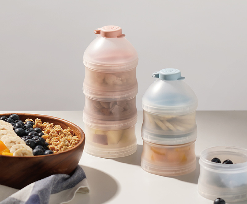 Simba Twist-Lock Stackable Milk Powder Formula Dispenser and Snack Storage Containers (BPA Free)